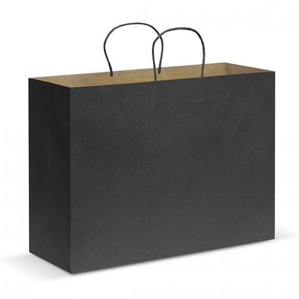 Paper Carry Bag CA107594 Black Extra Large
