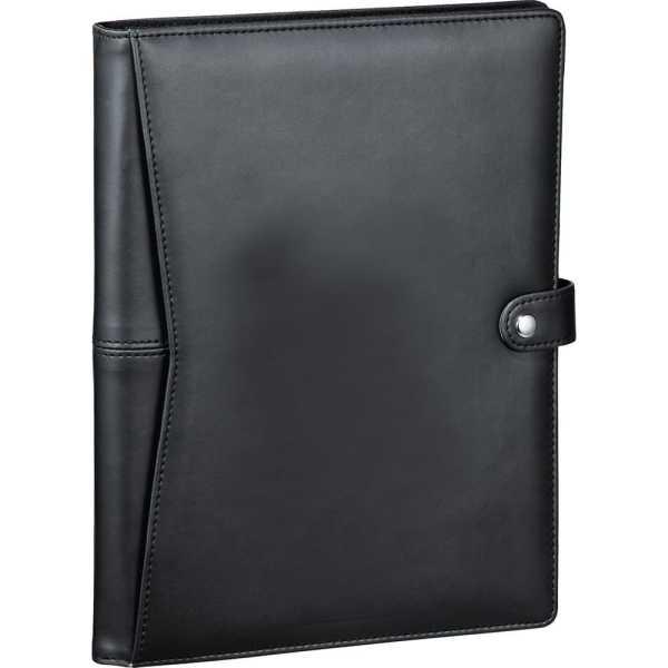 Pedova ETech JournalBook with Snap Closure CA9138BK Black Front