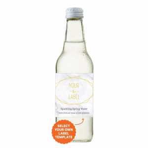 Personalised Bulk Bottled Water Sparkling 330ml in Glass Bottle