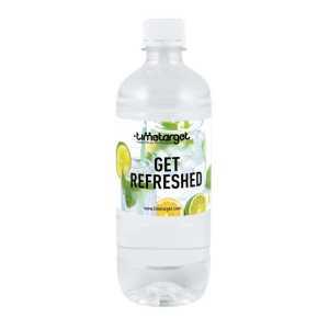 Personalised Bulk Bottled Water Still 600ml in Plastic Bottle with White Cap 1