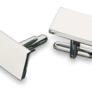 Plain Nickel Platted Cufflinks CA8988SL Silver