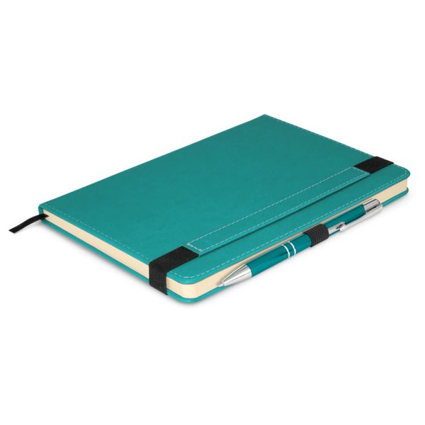 Premier Notebook Whit Pen 110461 Light blue