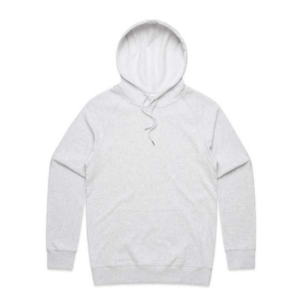 Premium Hoodie White Marle Mens