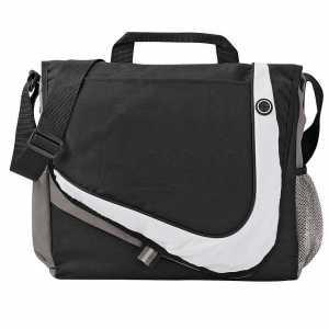 Racer Messenger Conference Satchel Bag 5148BK Black Grey