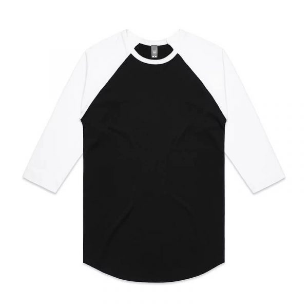 Raglan Mens T Shirts 5012 Black White