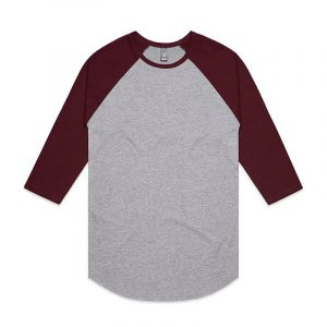 Raglan Mens T Shirts 5012 Marle Maroon