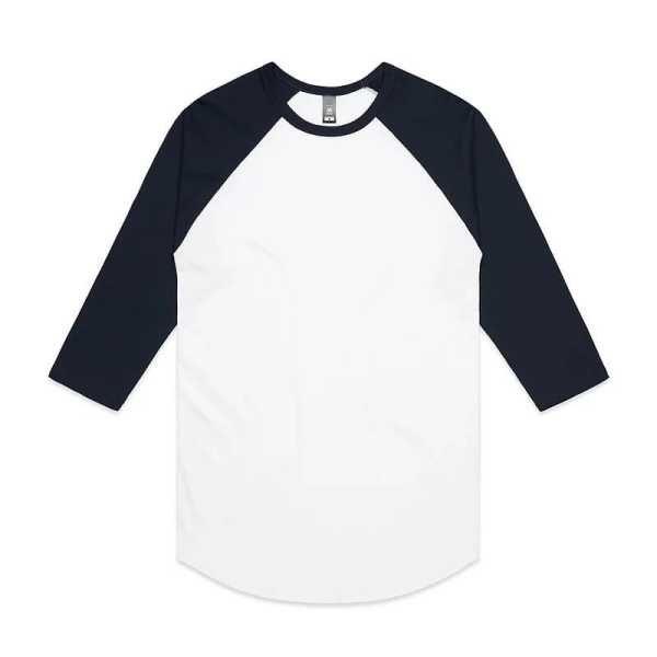 Raglan Mens T Shirts 5012 White Black