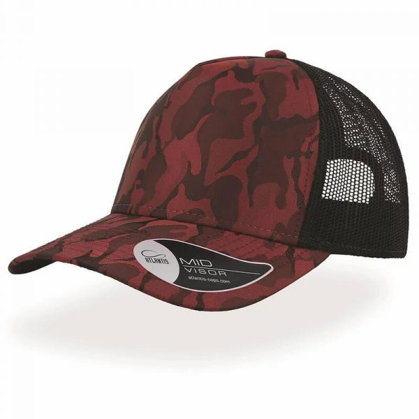 Rapper Camo Cap A2550 Red