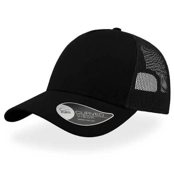 Rapper Cotton Trucker Cap A2650 Black