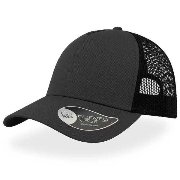 Rapper Cotton Trucker Cap A2650 Grey Black