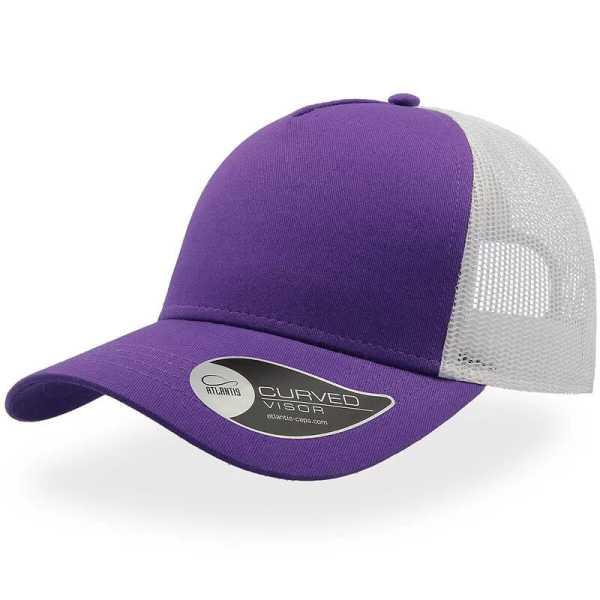 Rapper Cotton Trucker Cap A2650 Purple White