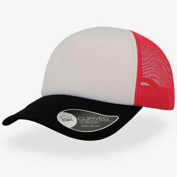 Rapper Trucker Cap A2500 White Black Red