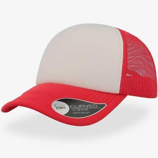 Rapper Trucker Cap A2500 White Red