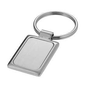 Rectangle Key Ring 1296SL Silver