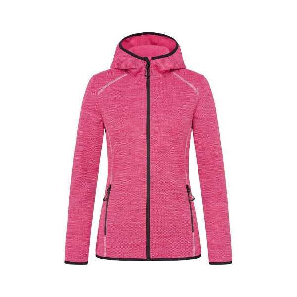 Recycled Fleece Hoodie Womans Pink