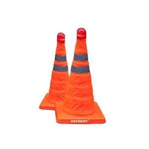 Reflective Folding Road Cone With Top Light CAOC30X183 Orange