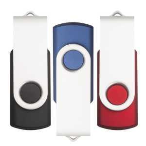 Rotate USB Flash Drive USB7860 2GRD Black Blue Red