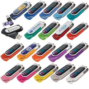 Rotate USB Flash Drive With Dome Badge USB7860 DOME Various Colours