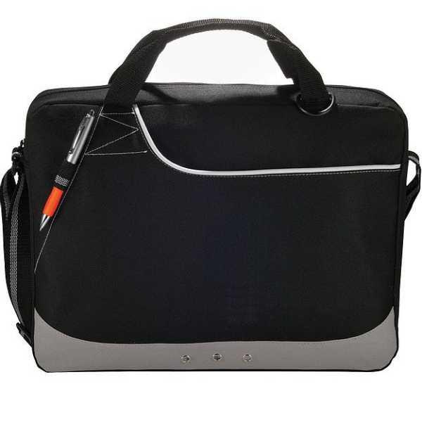 Rubble Brief Conference Messenger Satchel Bag 5138BK Black