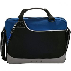 Rubble Brief Conference Messenger Satchel Bag 5138BK Black Blue