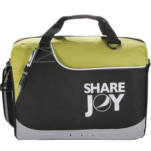 Rubble Brief Conference Messenger Satchel Bag 5138BK Black Yellow