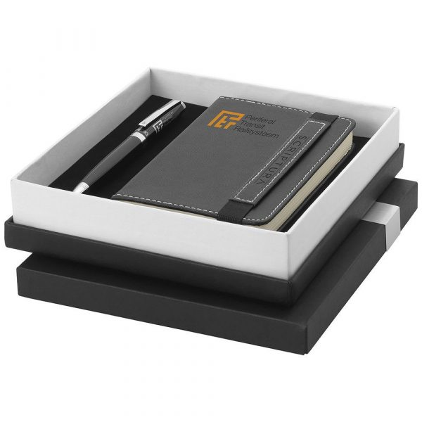 Scriptura Note Book and Pen Gift Set SC1001BK Black in Gift Box