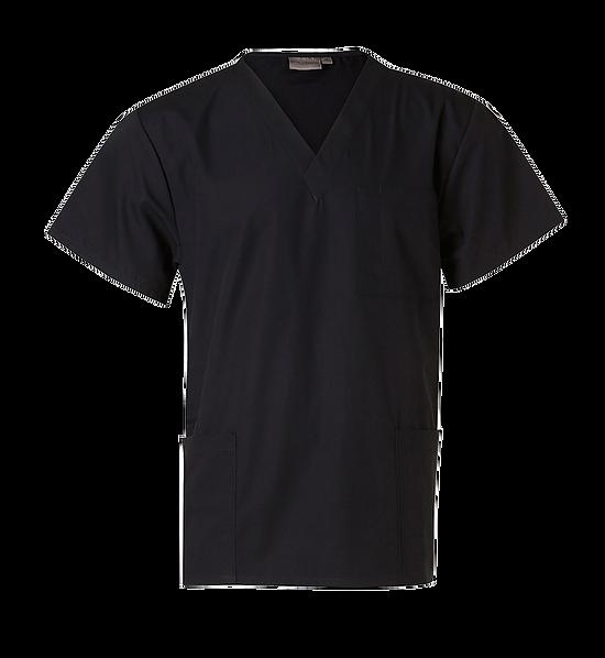 Scrubs Short Sleeve Tunic Top Unisex M7630 Black