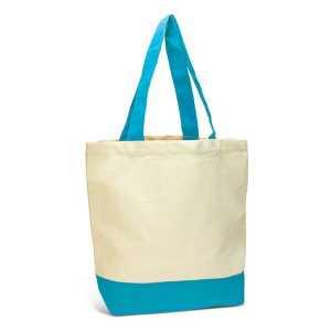 Sedona Canvas Tote Bag 116873 Natural Light Blue