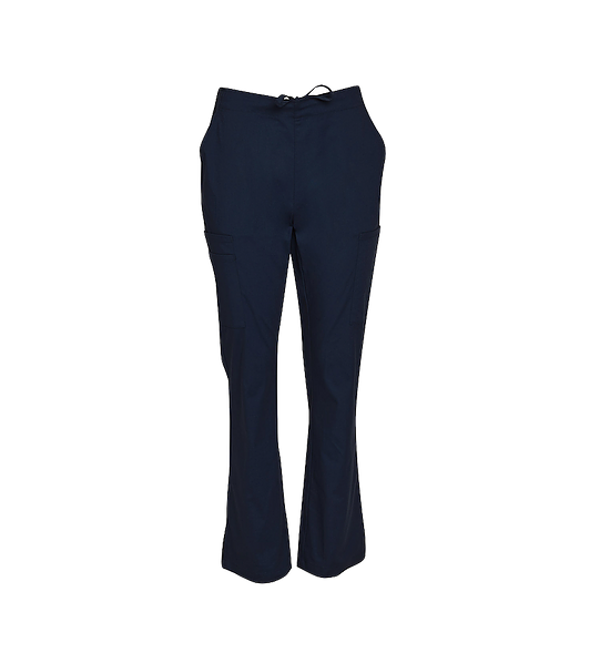 Semi Elastic Waist Solid Scrub Pants Womens M9720 Black