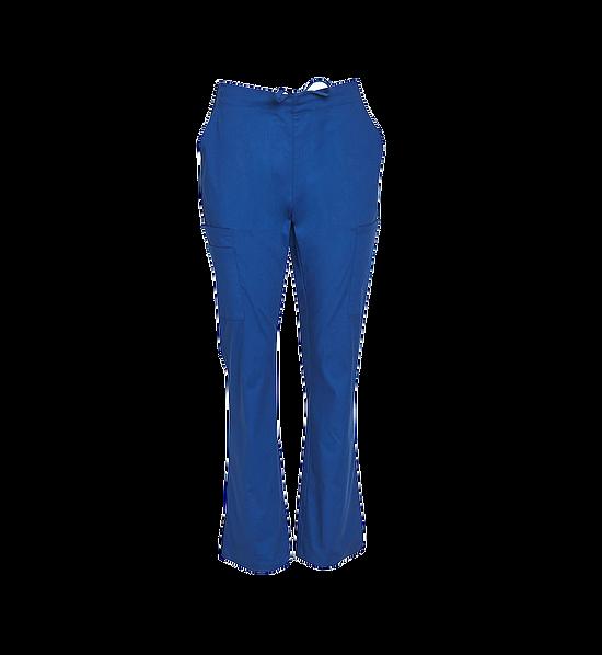 Semi Elastic Waist Solid Scrub Pants Womens M9720 Blue