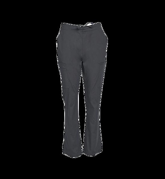 Semi Elastic Waist Solid Scrub Pants Womens M9720 Grey