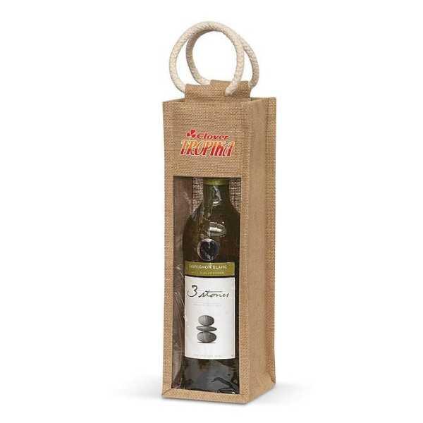 Serena Jute Wine Carrier 108039 Jute