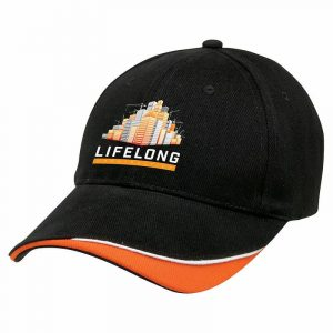 Signature Caps 4046 Black Front with Logo