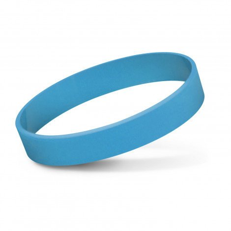 Silicone Wrist Band Debossed CA112805 Light Blue