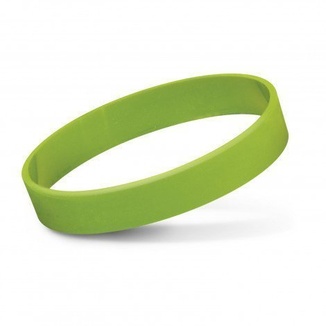 Silicone Wrist Band Debossed CA112805 Lime Green