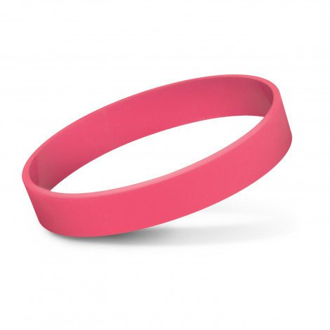 Silicone Wrist Band Debossed CA112805 Pink