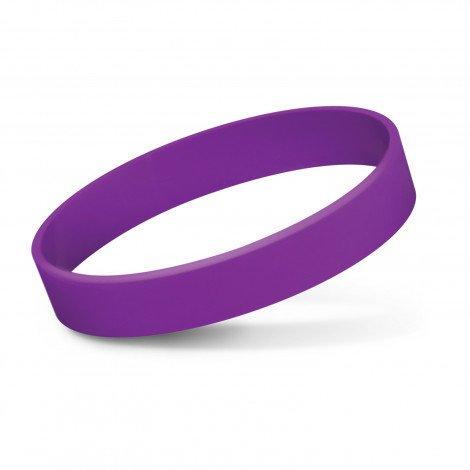 Silicone Wrist Band Debossed CA112805 Purple