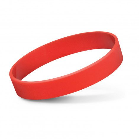 Silicone Wrist Band Debossed CA112805 Red