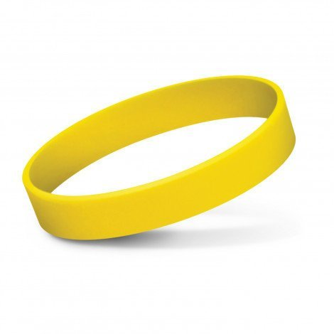 Silicone Wrist Band Debossed CA112805 Yellow