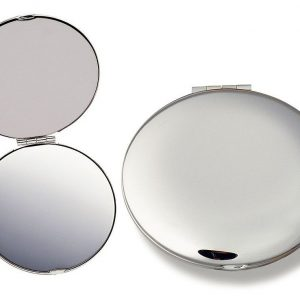 Silver Compact Mirror 8904SL Silver