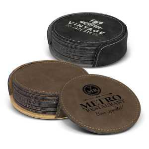 Sirocco Coaster Set of 6 CA116581 Black Brown Branded