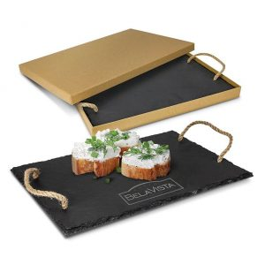 Slate Serving Board CA115104 Black in Gift Box