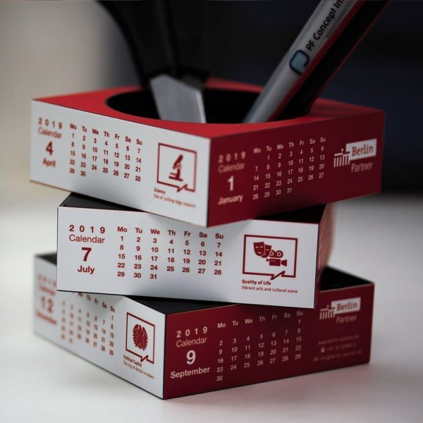 Sliding Pen Pot Calendar A1005MU