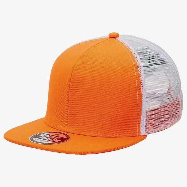 Snapback Trucker 4390 Orange White