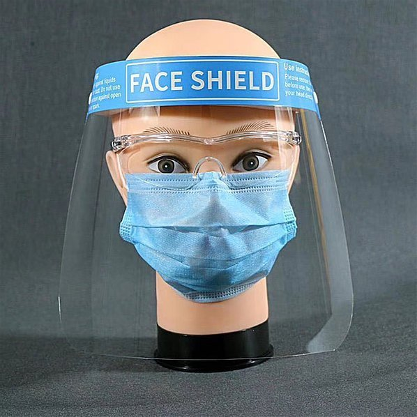 Splash Clear Isolation Protective Face Mask Shield Protector T018