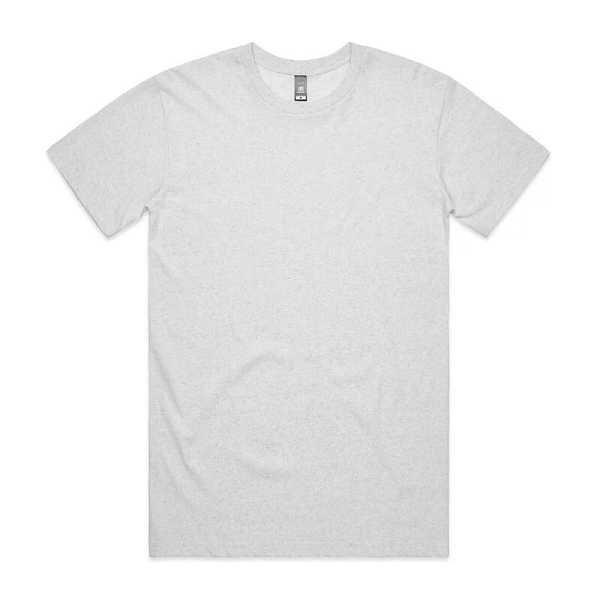 Staple Marle T Shirts Unisex 5001M Marle White