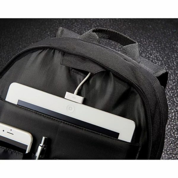 Stark Tech 15.6 inch Computer Backpack 5044BK Black Charger Cable Opening