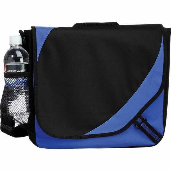 Storm Conference Satchel Messenger Bag 5156GY Black Blue