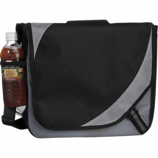 Storm Conference Satchel Messenger Bag 5156GY Black Grey