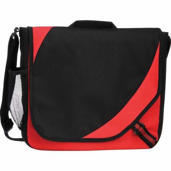 Storm Conference Satchel Messenger Bag 5156GY Black Red